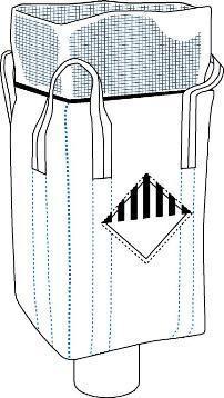 Антистатический биг-бег, верх юбка, дно клапан