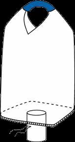одностропный биг бэг верх открыт, дно клапан